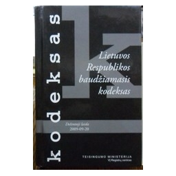 Lietuvos Respublikos baudžiamasis kodeksas: Dešimtoji laida (2009-09-20)