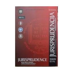 Jurisprudencija 2009 m. 4(118)/ Autorių kolektyvas