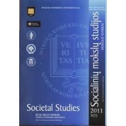 Socialinių mokslų studijos. Mokslo darbai. 2011, 3 (1)/ Autorių kolektyvas