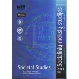 Socialinių mokslų studijos. Mokslo darbai. 2011, 3 (2)/ Autorių kolektyvas
