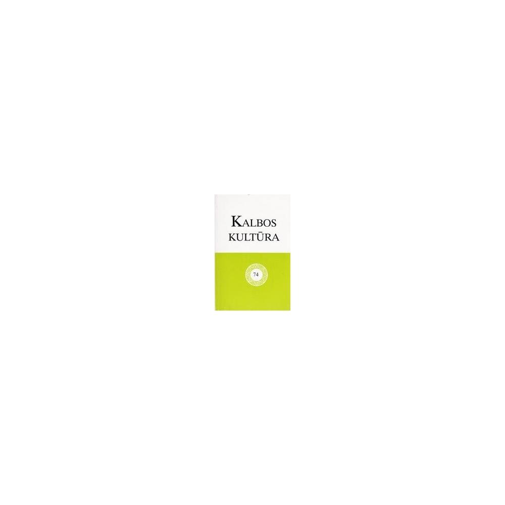 Kalbos kultūra 74/ Albina Bataitytė