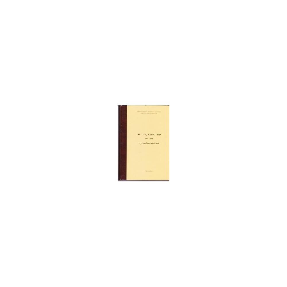 Lietuvių kalbotyra, 1981-1985/ Adelė Sedekerskytė