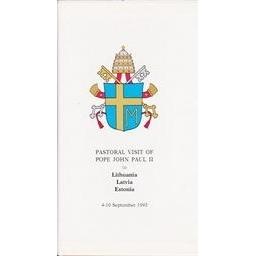 Pastoral visit of Pope John Paul II to Lithuania, Latvia, Estonia/ Autorių kolektyvas