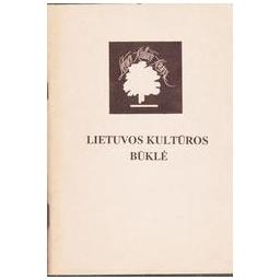 Lietuvos kultūros būklė/ Memorandumo medžiaga