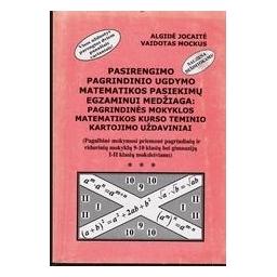 Pasirengimo pagrindinio ugdymo matematikos pasiekimų egzaminui medžiaga/ Jocaitė Algidė, Mockus Vaidotas