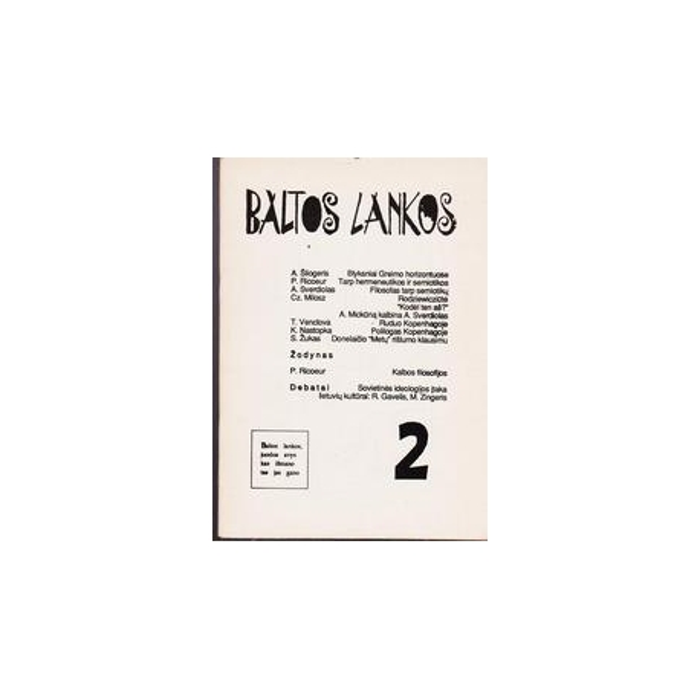 Baltos lankos, 1992 m., Nr. 2