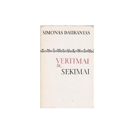 Vertimai ir sekimai/ Simonas Daukantas