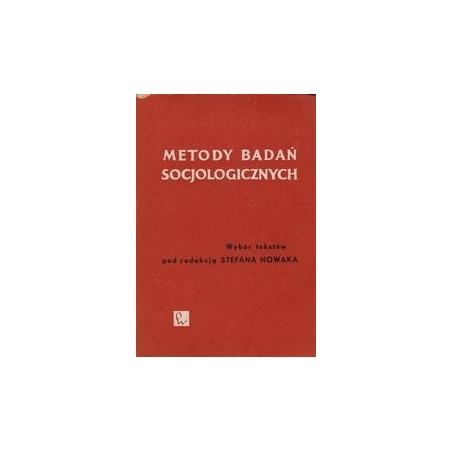 Metody badan socjologicznych/ Nowak S.