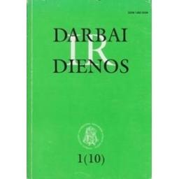 Darbai ir dienos 1(10)/ Gudaitis L.