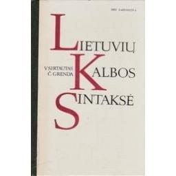Lietuvių kalbos sintaksė/ Sirtautas V., Grenda Č.