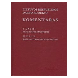 Lietuvos Respublikos Darbo Kodekso komentaras (I tomas)