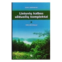 Lietuvių kalbos užduočių komplektai (8-12 kl.)/ Juzėnienė Janė