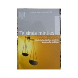 Teisinės minties šventė - 2003. - Autorių kolektyvas